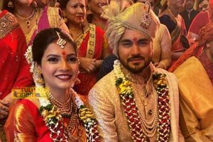 "Cricketer Manish Pandey married to Tulu film ""Thelikeda Bolli"" lead Ashrita Shetty."